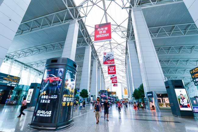 Guangzhou Airport has an average passenger flow of 25 million passengers per year.